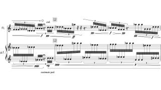 「Flow Flute and Piano」第二部の楽譜
