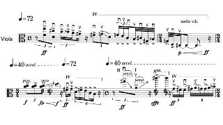 「Move」第一部の楽譜
