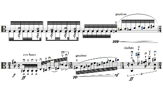 「Move」第二部の楽譜