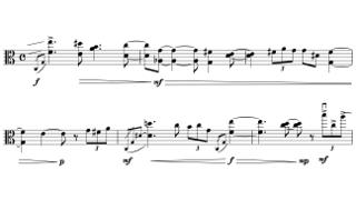 「Move」第三部の楽譜