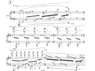 「瀬戸内海 Seto Inland Sea」第一部の楽譜