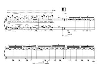 「瀬戸内海 Seto Inland Sea」第三部の楽譜