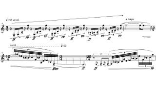 「Sonata for Clarinet Solo」第一部の楽譜