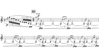 「Sonata for Clarinet Solo」第三部の楽譜