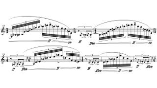 「Sonata for Clarinet Solo」第四部の楽譜